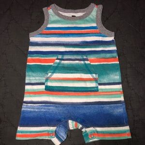 Tea collection boys 9-12 months tank romper stripe